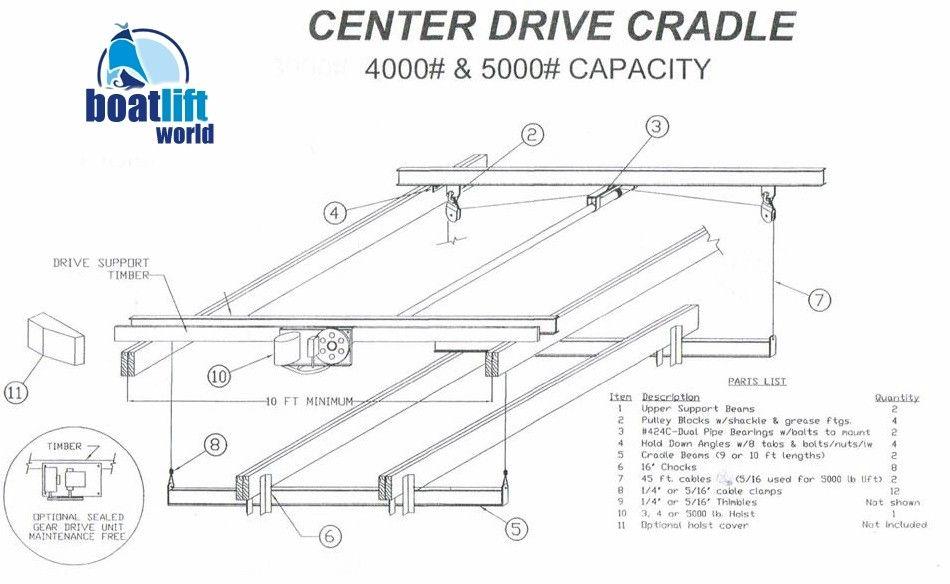 4000 lb  overhead steel boat lift