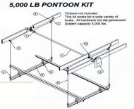 5000 lb. Pontoon Boat Lift
