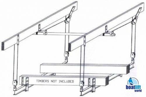 6000 lb. Cradle Boat Lift