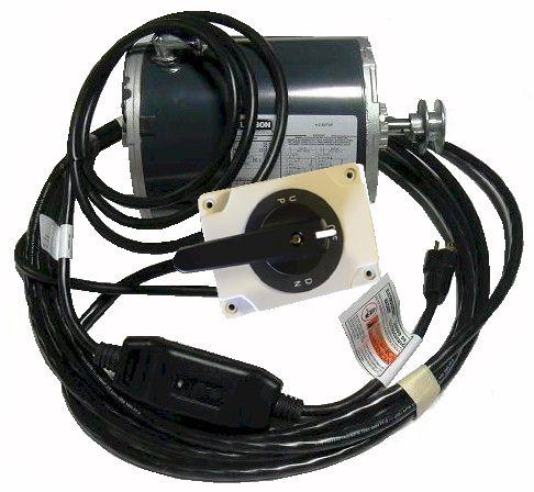 Boat Lift Motor TENV, Lock On Switch, Wire, GFCI, 110v