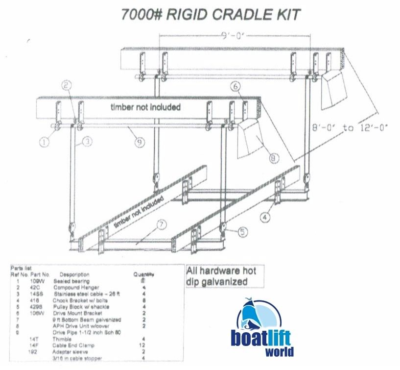 10k_boat_lift_drawing_2 10,000 lb cradle boat lift boat lift world ace boat lift wiring diagram at webbmarketing.co