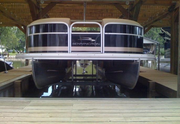 4000 lb  Pontoon Boat Lift